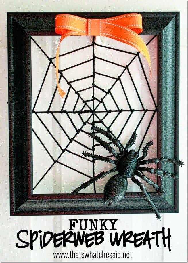 Funky Spiderweb Wreath at thatswhatchesaid.net