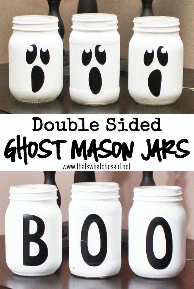Ghost Mason Jars at thatswhatchesaid.net