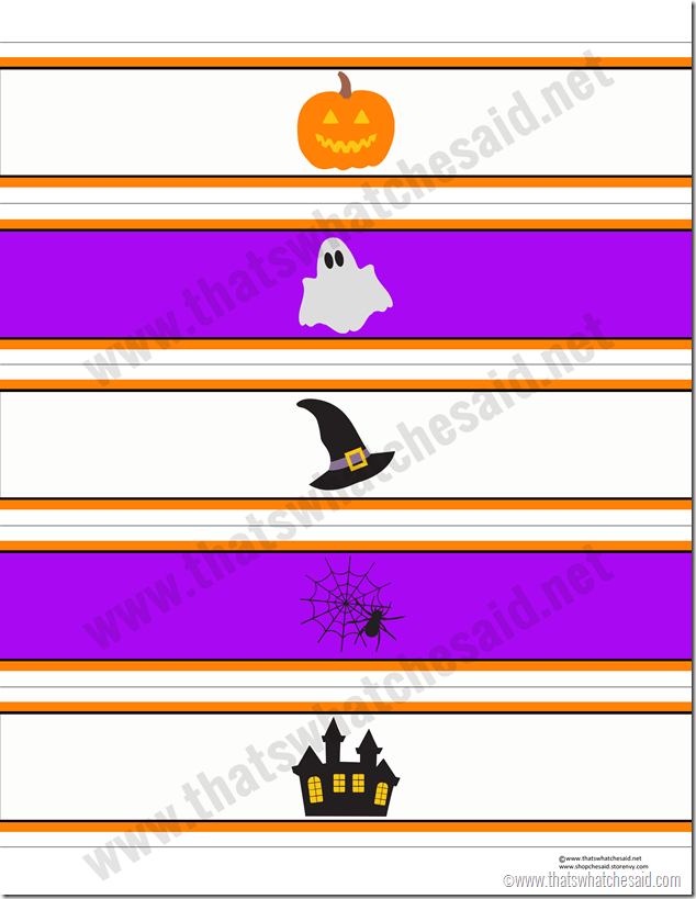 Halloween Water Bottle Labels