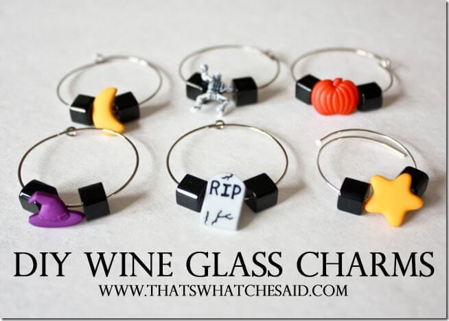 How to make your own wine glass charms at thatswhatchesaid.com