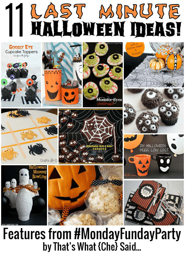 Last Minute Halloween Ideas at thatswhatchesaid.net