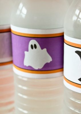 Halloween Water Bottle Printables