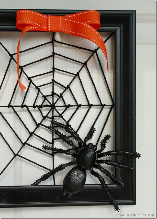 Spiderweb Wreath at thatswhatchesaid.com