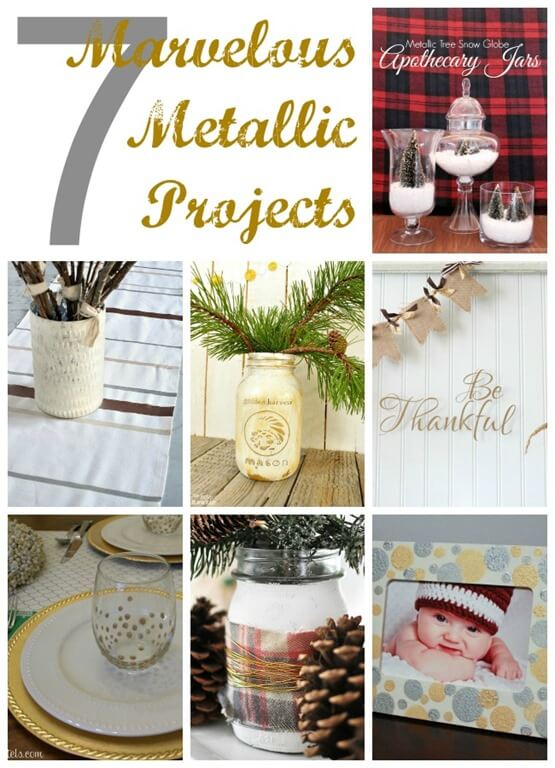 7 Marvelous Metallic Projects poster.