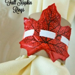 DIY Fall Leaf Napkin Rings