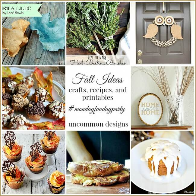 A great collection of fall recipes and decor ideas at monday funday link party!