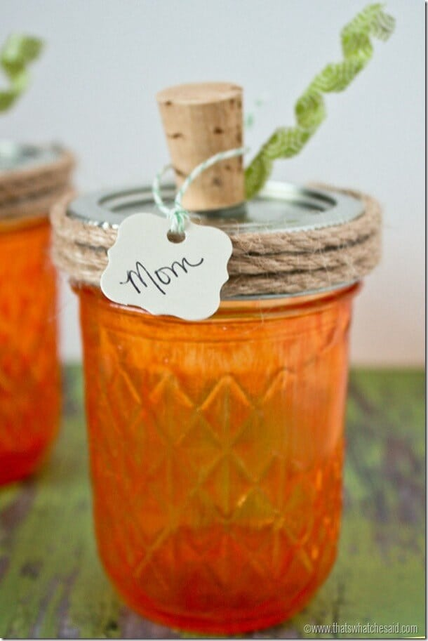 Pumpkin Mason Jar Place Cards at thatswhatchesaid.net