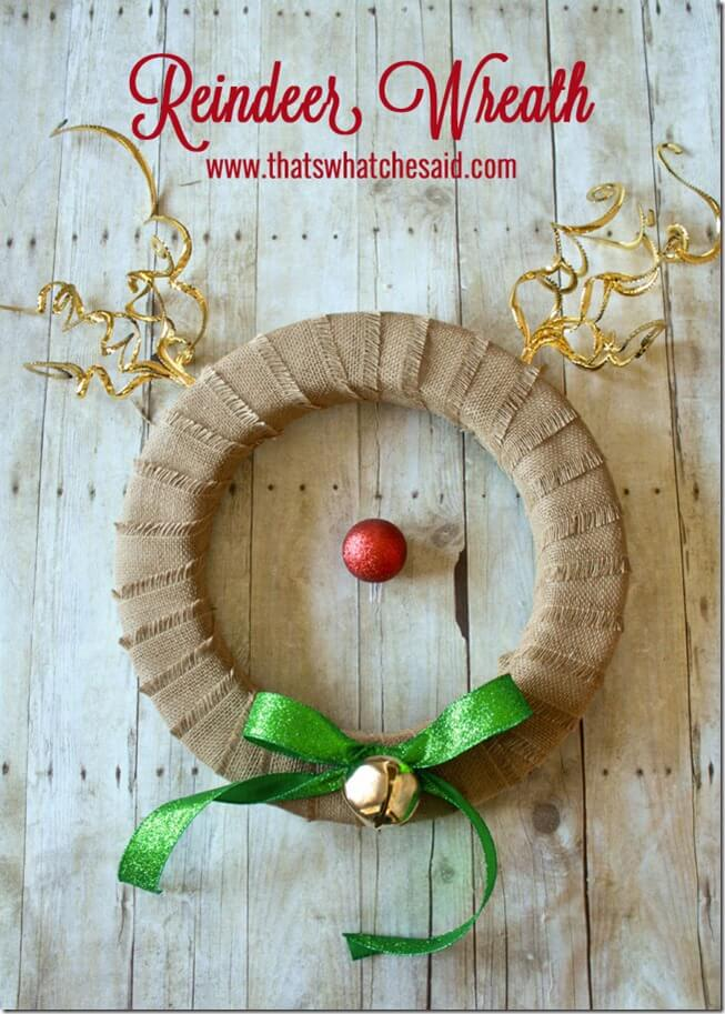 Reindeer Wreath at thatswhatchesaid.com