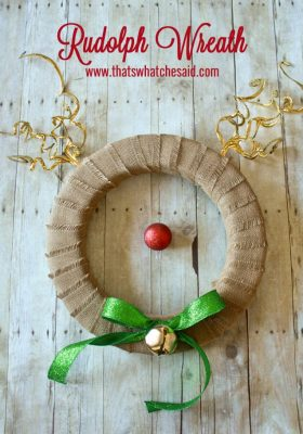 Rudolph Wreath at thatswhatchesaid.com