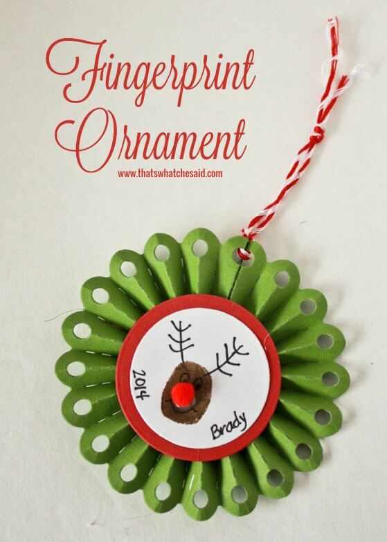 Fingerprint Ornament Ideas at thatswhatchesaid.com