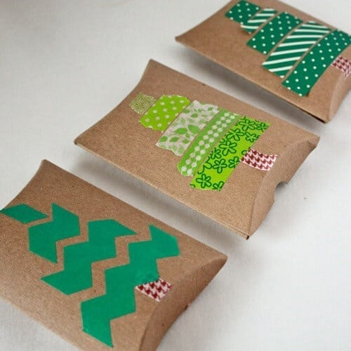 Washi Tape Christmas Tree GIft Card Boxes