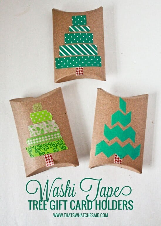 Washi tape christmas tree gift card holders thats what che washi tape tree gift card holders at thatswhatchesaid negle Choice Image