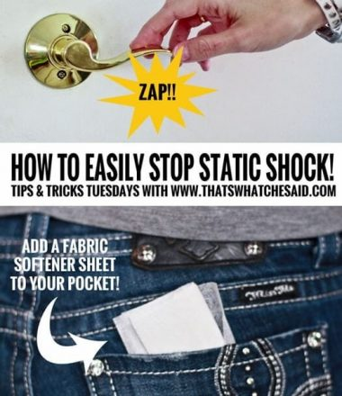 How to Easily Stop Static Shock at www.thatswhatchesaid.com