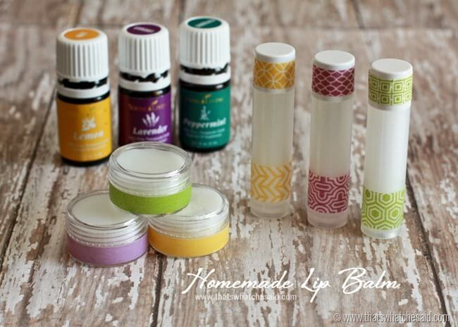 Homemade Lip Balm Recipe at thatswhatchesaid.com