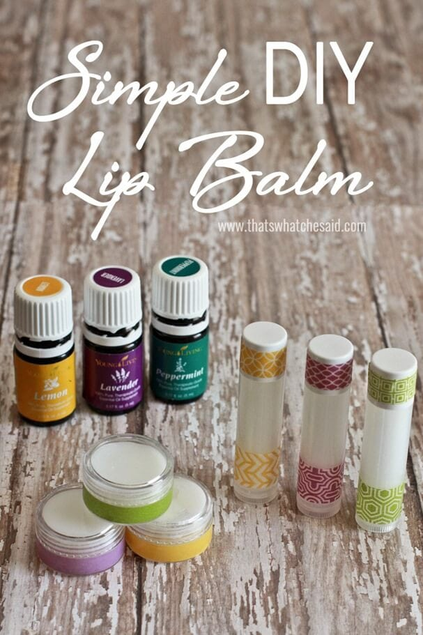 Simple DIY Lip Balm Recipe at www.thatswhatchesaid.com