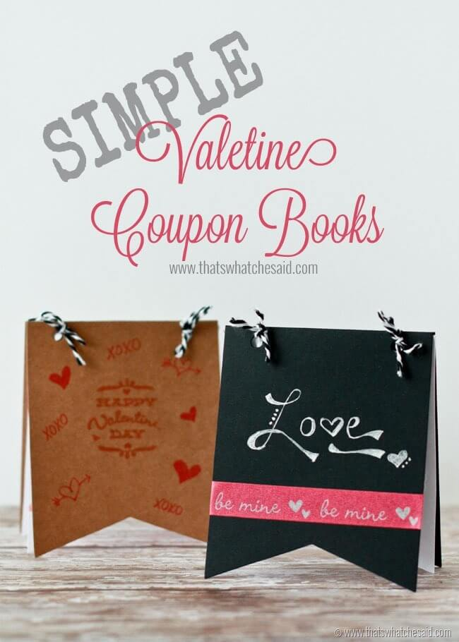Simple Valentine Coupon Books