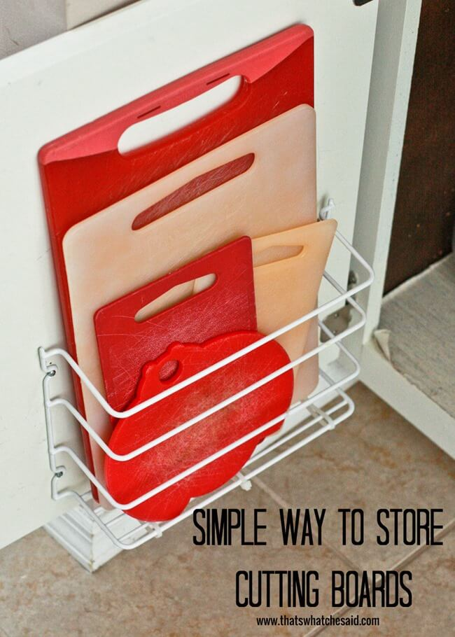 Incroyable Cutting Board Storage Idea At Thatswhatchesaid.com
