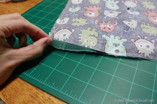 Easy Taggie Blanket 4
