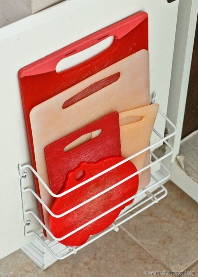 How to store cutting boards in a small kitchen at thatswhatchesaid.com