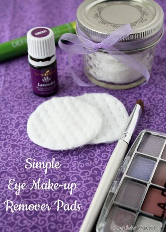 Simple Natural Ingredient DIY Eye Make Up Remover Pads