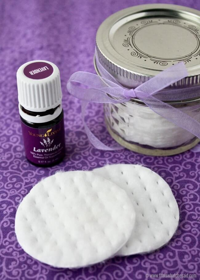 Make your own natural eye make up remover pads at thatswhatchesaid.com