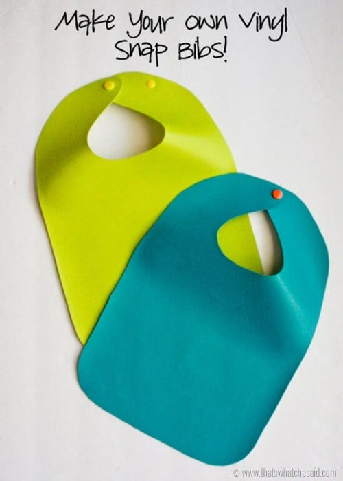 How to make your own Vinyl Baby Bib