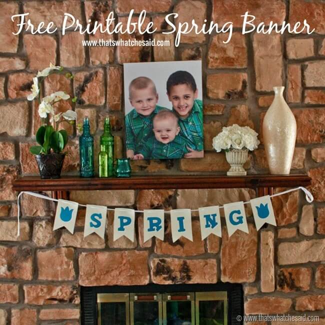 Free Printable Spring Banner at thatswhatchesaid.com