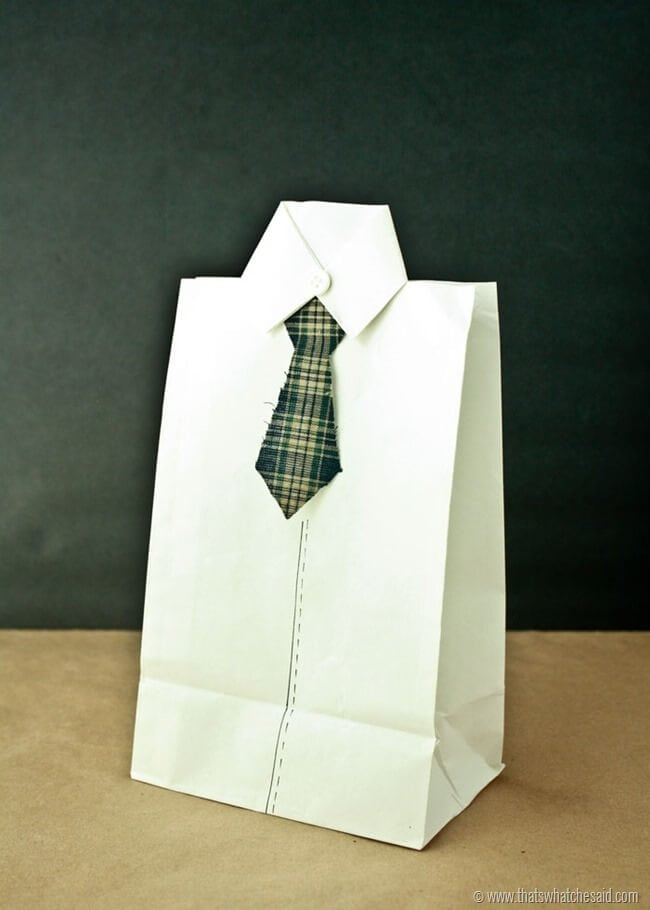 Shirt and Tie Gift Bags 12