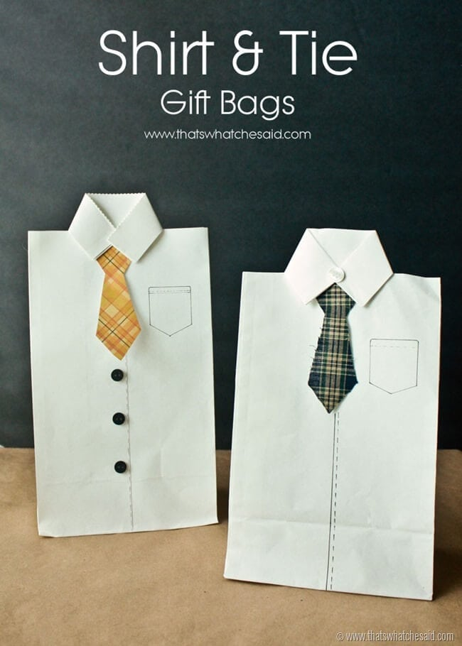 Shirt and Tie Gift Bags at thatswhatchesaid.net