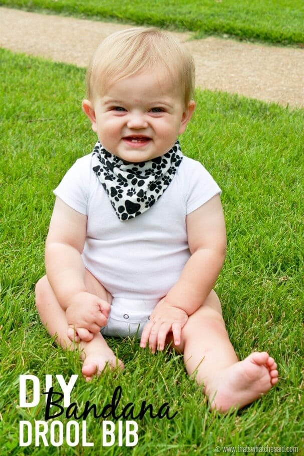 DIY Bandana Style Drool Bib at thatswhatchesaid.com
