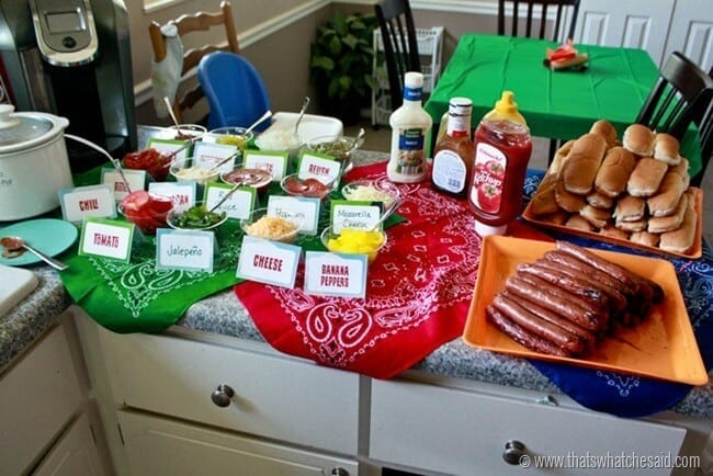 Hot Dog Bar Ideas 9