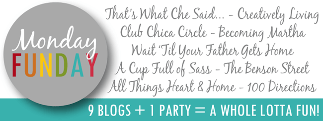 Monday Funday Link Party at www.thatswhatchesaid.com Join us each Sunday at 6 pm CST for the best link party on the Blogosphere!
