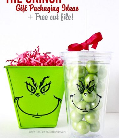 The Grinch Gift Packaging + Free Cut File