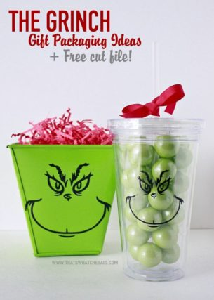 Grinch Gift Packaging Ideas Using the Trace Feature!
