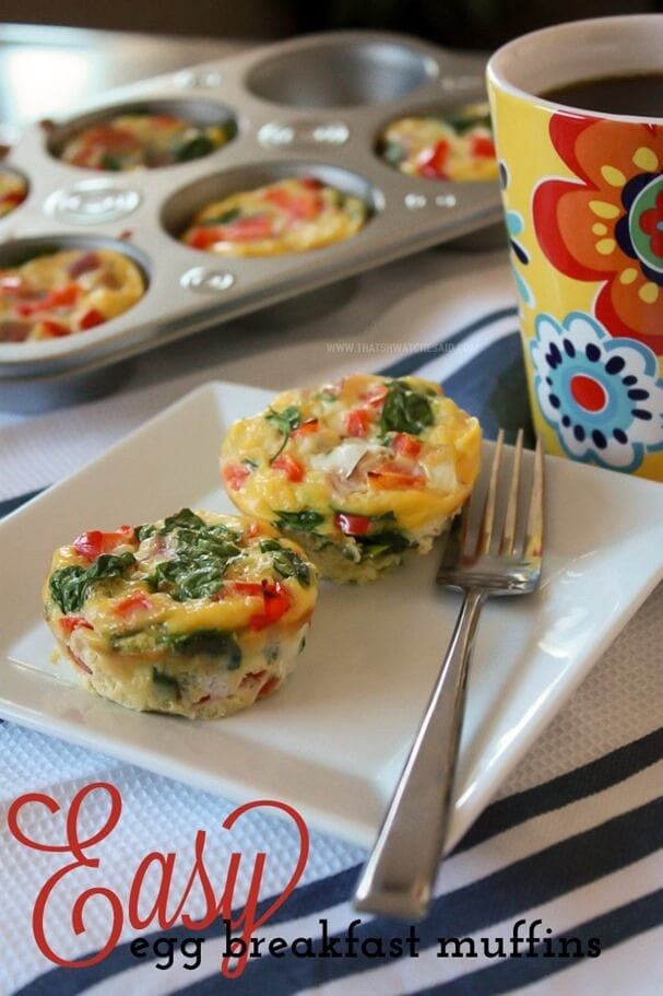 Easy Egg Breakfast Muffins! Make ahead and enjoy all week long! Mornings just got a whole lot easier!