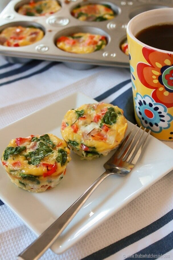 These make ahead egg breakfast muffins are perfect for busy mornings!