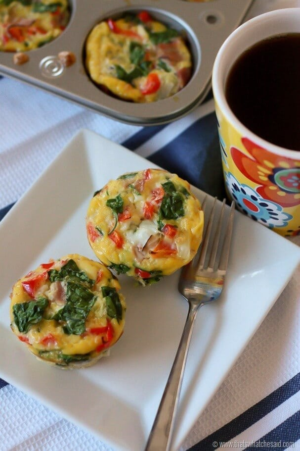 Egg Breakfast Muffins at thatswhatchesaid.com Mornings have never tasted so good!