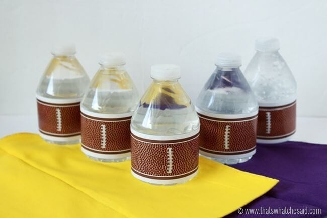 Football Water Bottle Label Free Printable at www.thatswhatchesaid.com