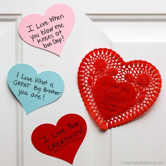 Heart Attack Door Decor Idea at www.thatswhatchesaid.com