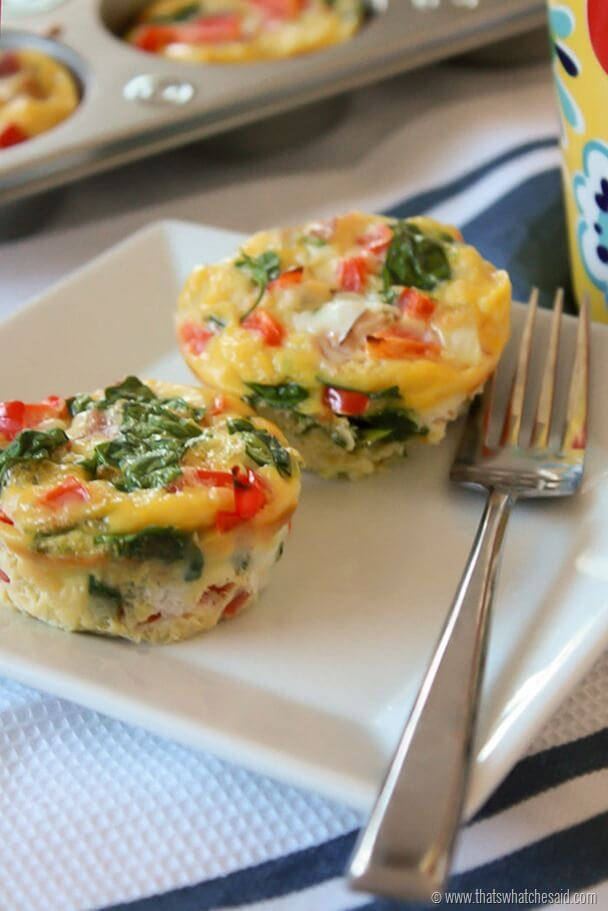 Quick Breakfast Muffins at thatswhatchesaid.com Make ahead and enjoy all week long!