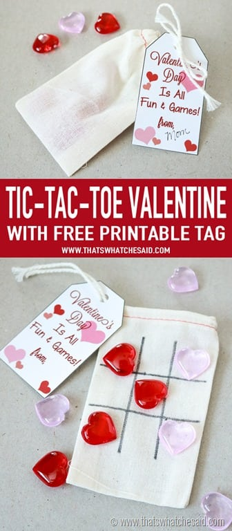 picture about Tic Tac Toe Valentine Printable titled Middle Tic-Tac-Toe Valentine - Thats What Che Explained
