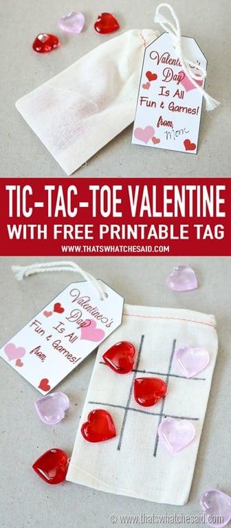 Non Candy Tic tac toe valentine idea
