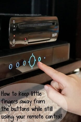 The Best way to keep kids away from electronics buttons! Genius!