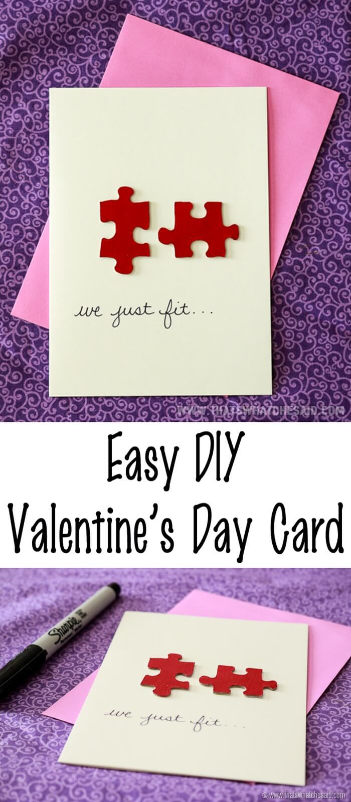 Easy DIY Valentine's Day Card at www.thatswhatchesaid.com