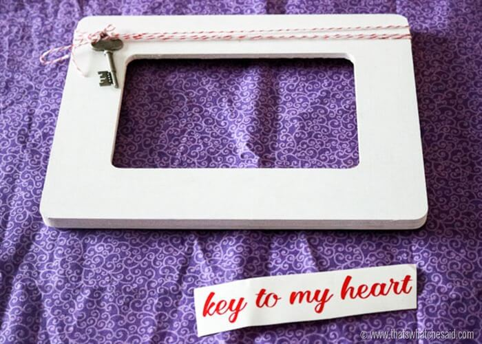 Easy Key to My Heart Picture Frame at www.thatswhatchesaid.com