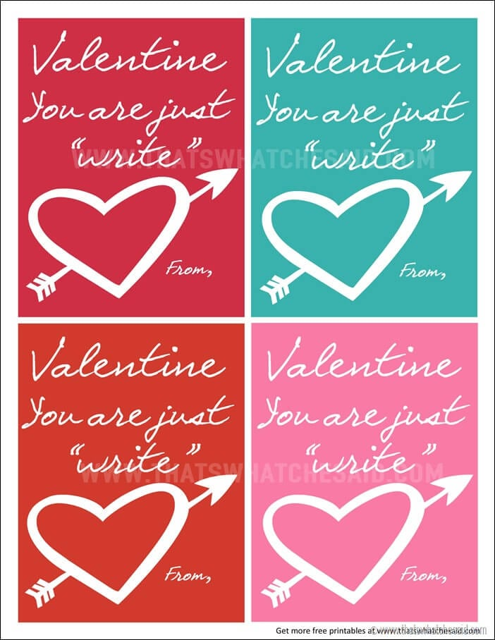 Just Write Valentine at www.thatswhatchesaid.com
