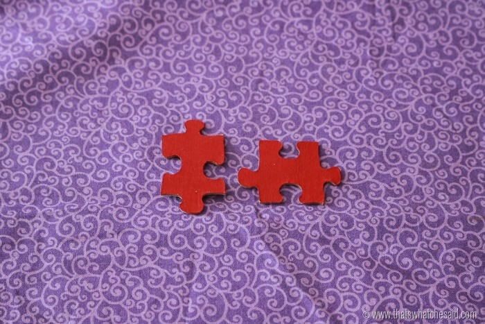 Puzzle Piece DIY Valentine's Day Card