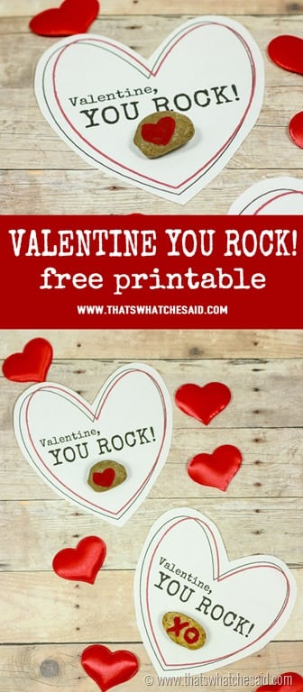 graphic regarding You Rock Valentine Printable identified as Valentine Oneself Rock Totally free Printable - Thats What Che Mentioned