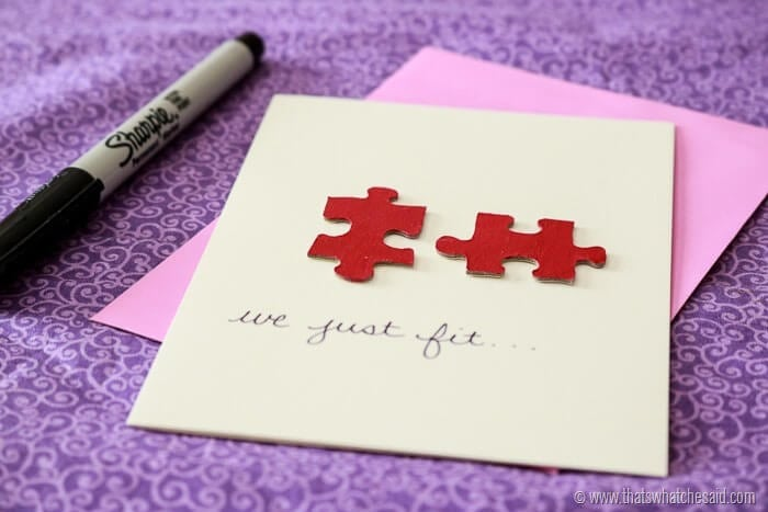 We Just Fit Valentine's Day Card at www.thatswhatchesaid.com