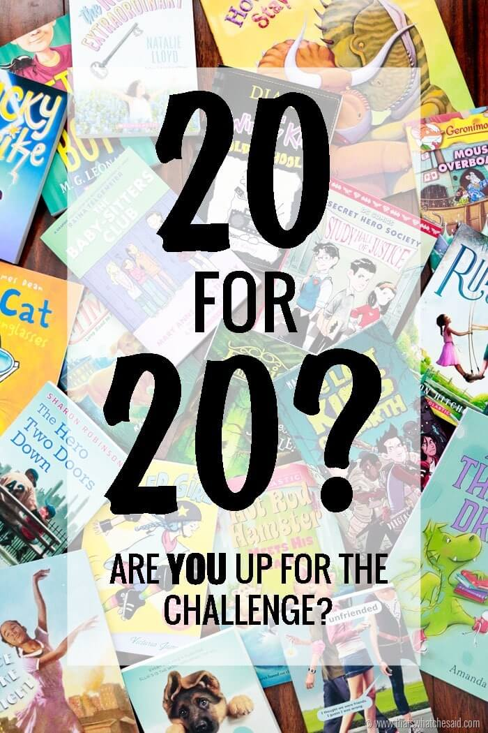 20 for 20 Scholastic Reading Challenge